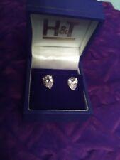 pair of beautiful sterling silver stud earrings new in box