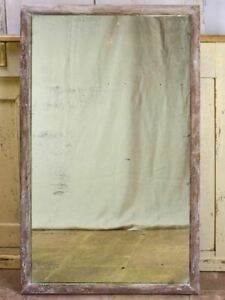 """Antique rustic French mirror with simple timber frame 2/2. 26¾"""" x 43¼"""""""