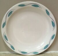 Best China HOMER LAUGHLIN Dessert Plate TURQUOISE BLUE GREEN GRAY Leaves NICE
