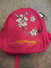 Ed Hardy Josh Iris Flower Backpack - Violet Purple