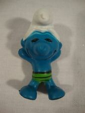 """Payo Schleich Blue Smurf Toy Figurine Swimming Shorts 2"""" Tall Mini Miniature"""