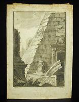 Giovanni Battista Natali (1698-1765) Studie Von Denkmäler Antike Pyramide XVIII