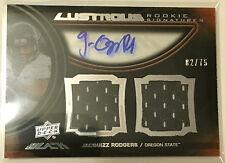 Jacquizz Rodgers 2011 UD Exquisite BLACK Dual Jersey RC Auto #'d 2/75 - FALCONS