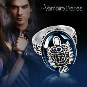 The Vampire Diaries, Damon Salvatore, Crest, Lapis Antique Silver, Daylight Ring