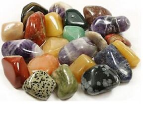 Starter Collection Set 5 x Med & Large TUMBLESTONE CRYSTALS + Info & Gift Box