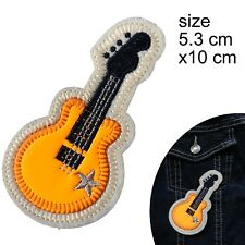 Guitar Iron on patch instrument music musician rock star band iron-on patches