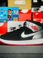Nike Air Jordan 1 Mid Johnny Kilroy Men's Size 10 554724-057 Black Red Silver