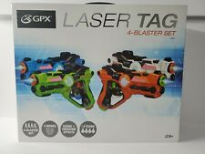GPX LASER TAG 4 BLASTER SET SOUND + VIBRATION EFFECTS NEW FAST
