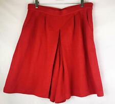 14 St John Red Skort Short and Skirt Vintage Pockets
