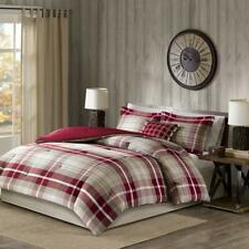 Woolrich Williamsport Plaid Comforter Set Red Twin