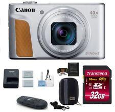 Canon PowerShot SX740 HS Digital Camera 32GB PRO Bundle (Silver) - Canon Dealer!