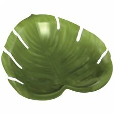Palm Tree Luau Leaf Plate Green Leaf Shaped Hawaiian Beach Garden Party Platter
