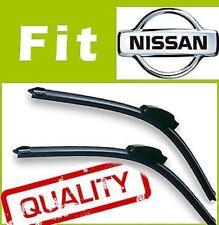 2 Front Aerodynamic Windscreen Wiper Blades Retro Fit FLAT BEAM for NISSAN