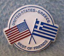 United States Greece Best Of Friends Rubber Magnet Souvenir Travel Refrigerator