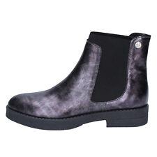 scarpe donna LIU JO 38 EU stivaletti grigio pelle BY589-38