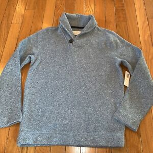 New NWT Old Navy Pullover Long Sleeve Warm Button Sweater Blue boys Size 10/12