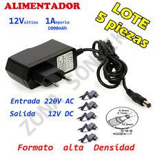 Alimentador 12V  1A  Lote 5 piezas, Transformador de 220V AC a 12V DC  1000mAh