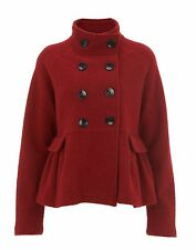 HAVREN Red Wool Peplum Jacket rrp 150