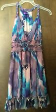 Ever Pretty Purple Pink Leaf Print Chiffon V-Neck Halter Cocktail Party Dress 12