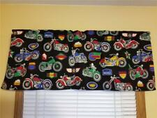 "MOTORCYCLE, BIKE, NEW CUSTOM MADE LINED CURTAIN VALANCE FITS UP TO 30""W WINDOW"