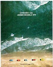 Citroen GS 1978-79 French Market Sales Brochure Special Club Pallas GSX X3