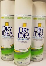 Lot of 3~Dry Idea Advanced Dry Antiperspirant & Deodorant Spray Fresh 6 oz each