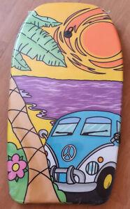 84cm Beach Board Bodyboard Kids & Adult Surf Board Includes Wrist/Ankle Strap