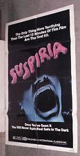 SUSPIRIA original 1977 one sheet movie poster DARIO ARGENTO/JESSICA HARPER
