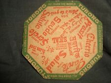 Old Vintage Hexagon Shape Breweries Coaster from India 1930