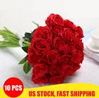 10PCS Artificial Silk Flowers Realistic Roses Bouquet Home Wedding Party Decor