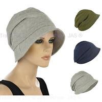 GENTLE SOFT Cotton Retro Bucket Cloche Chemo Hair Loss Head Cover Sun Hat Visor