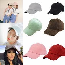 Fashion Unisex Women Suede Baseball Cap Snapback Visor Sport Sun Adjustable Hat