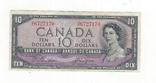 **1954 Devil's Face**Canada $10 Note,Beattie/Coyne BC-32b, Ser# HD 6727170