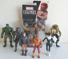 Marvel Superheroes Action Figure Bundle of 7 : Hulk Nick Fury Kurse Lizard Ulik