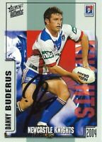 ✺Signed✺ 2004 NEWCASTLE KNIGHTS NRL Card DANNY BUDERUS