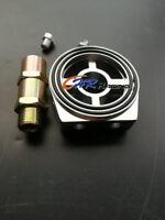 Aluminum Oil Filter Sandwich Plate Adapter 1/8 NPT 10AN Oil Cooler Kit