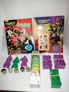 Teenage Mutant Ninja Turtles Mixed Lot - Playdough Molds, Ooshies, Activity...