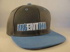 Argentina Snapback Hat Cap Gray Blue