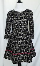 Extasy Italian Designer Black And Beige Lace Dress. Full Skirt Formal NWT $42 XS