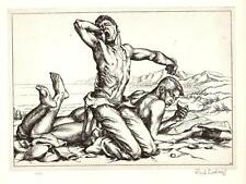 PAUL CADMUS Antique Art Print 1939 Two Boys On A Beach, Nude Gay Interest
