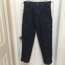 Veezo Mens 38 X 34 Russian Blue Denim Jeans