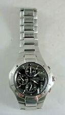 Men's SEIKO Chronograph Quartz Watch WR 100M Bracelet Band New Battery