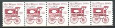 Mail Wagon Transportation Coil MNH PNC5 Plate# 2 Scott's 1903