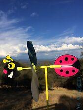 Seven color Windmill Spinner - Whirligig Decoration - Ladybug
