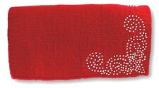 Tough-1 Red Mini Wool Show Saddle Blanket w/ Silver Dots & Crystals Horse Tack