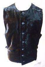 VICTORIAN Crushed velvet vest Medium Full steampunk Gothic vampire fitted