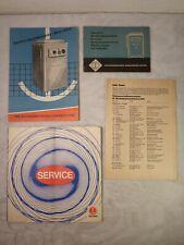 alte Bedienungsanleitung Waschmaschine DDR WM 60 Luxus +Vertragswerkstättenverz.