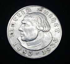 1933-A GEMANY MARTIN LUTHER SILVER 2 MARK COIN