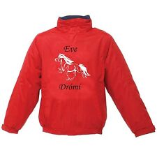 PERSONALISED PRINTED ICELANDIC HORSE REGATTA RIDING JACKET WATERPROOF DESIGN 2