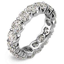 Eternity Band diamond ring F Vs1 5.25Ct Round cut 14K White gold anniversary